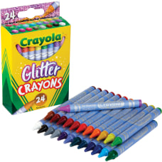 Crayola Glitter Crayons Assorted 24 Pack