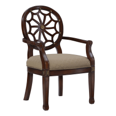 Powell Waverly Accent Chair MahoganyBrown