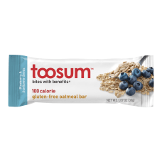 Toosum Healthy Foods Oatmeal Bars Blueberry