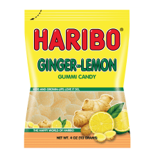 Haribo Ginger Lemon Gummies 5 Oz