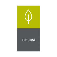 simplehuman Magnetic Trash Label Compost 4