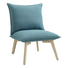 Linon Beck Pillow Chair BlueNatural