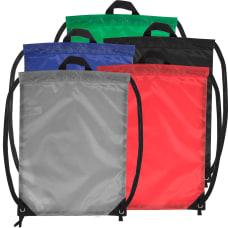 Trailmaker Drawstring Backpacks BlackBlueRedGrayGreen Set Of