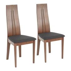 LumiSource Aspen Dining Chairs WalnutCharcoal Set