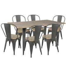 Lumisource Oregon Industrial Farmhouse Dining Table