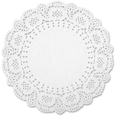 Sparco White Round Doilies Art Project