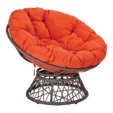 Office Star Papasan Chair OrangeGray