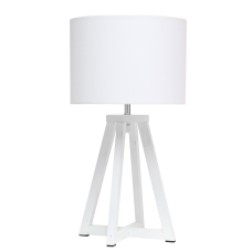 Simple Designs Interlocked Triangular Table Lamp