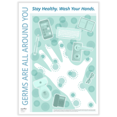 ComplyRight Germ Awareness Poster Germs Are