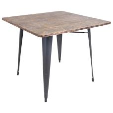 Lumisource Oregon Dining Table Square GrayWood