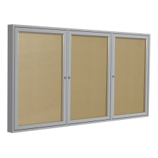 Ghent 3 Door Enclosed Bulletin Board