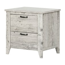 South Shore Lionel 2 Drawer Nightstand