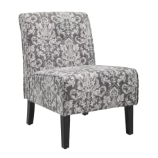 Linon Winston Accent Chair Gray DamaskDark