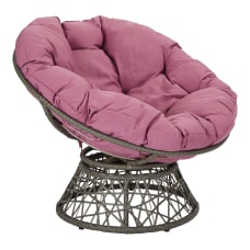 Office Star Papasan Chair PurpleGray