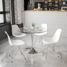 Flash Furniture Round Glass Cocktail Table