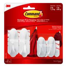 3M Command Designer Hooks Assorted Sizes