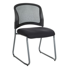 Office Star ProGrid Visitors Chair Black