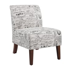 Linon Roxy Script Accent Chair Dark