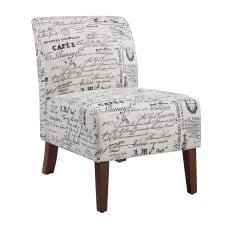 Linon Roxy Script Accent Chair Dark