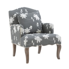 Linon Caroline Arm Chair Gray Floral