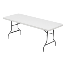 Lorell Banquet Folding Table Rectangle 6W