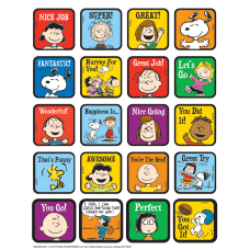Peanuts Motivational Theme Stickers 1 Multicolor