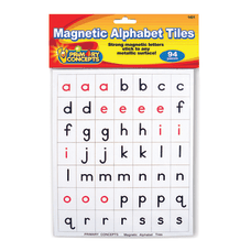Primary Concepts Magnetic Alphabet Tiles RedBlackWhite