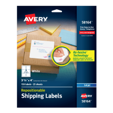 Avery Repositionable Inkjet Shipping Labels 3