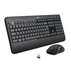 Logitech Wireless Keyboard Mouse Straight Full