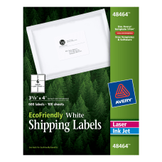 Avery EcoFriendly Permanent Shipping Labels 48464
