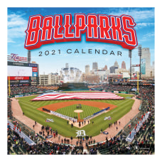 TF Publishing Sports Monthly Wall Calendar