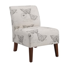 Linon Roxy Butterfly Accent Chair Dark