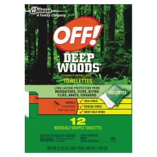 OFF Deep Woods Towelettes 012 Oz