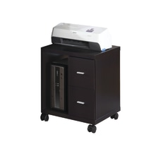 Monarch Specialties Mobile Office Cabinet Cappuccino