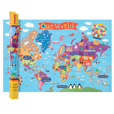 Round World Products Kids Wall Map