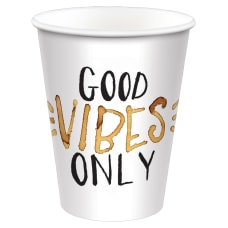Amscan Good Vibes Only Coffee Cups