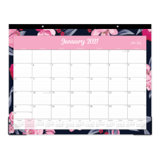 Blue Sky Monthly Desk Pad 22