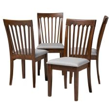 Baxton Studio Minette Dining Chairs GrayWalnut