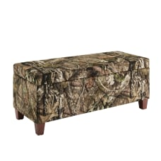 Linon Zenna Storage Ottoman Dark BrownMossy