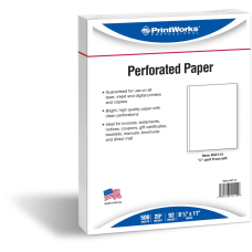 PrintWorks Professional Perforated Paper Letter Size