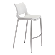 Zuo Modern Ace Bar Chairs WhiteSilver