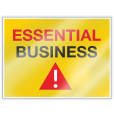 ComplyRight Essential Business Window Cling English