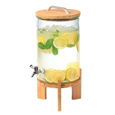 Beverage Dispenser With Bamboo Stand 250