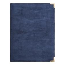 U Brands Blue Suede Padfolio with