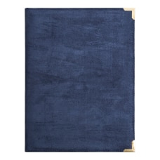 U Brands Suede Padfolio With Porous