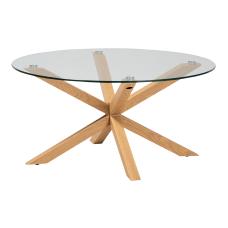 Baxton Studio Modern Glass Coffee Table