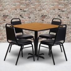 Flash Furniture Square Table With 4