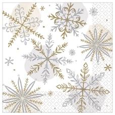 Amscan Christmas Shining Snow 2 Ply