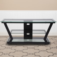 Flash Furniture MetalGlass TV Stand 21