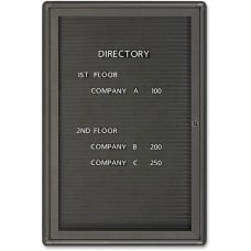 Quartet Radius Enclosed Magnetic Letter Board